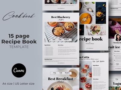 Canva Recipe book / Cookbook / Cards