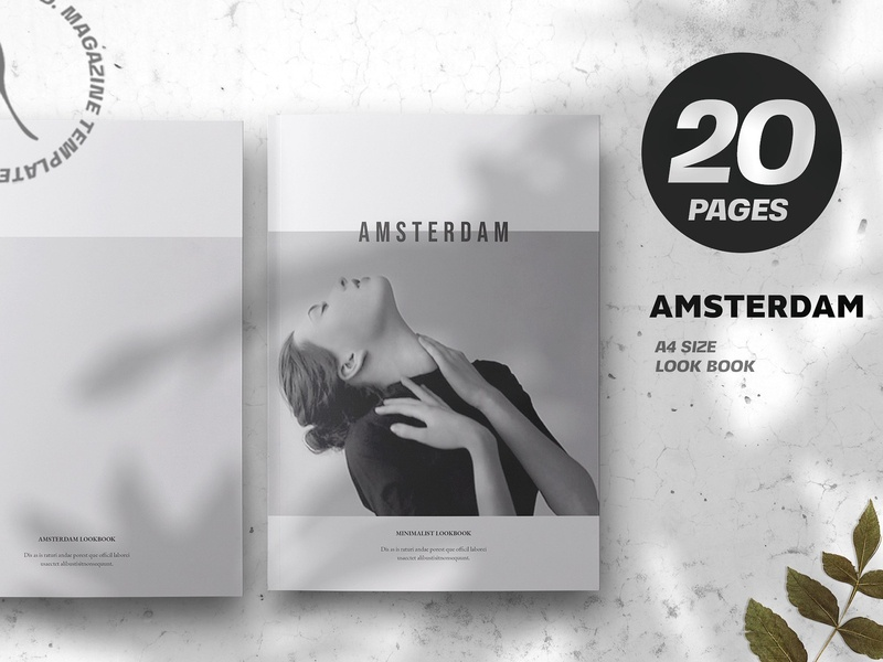 Amsterdam Minimalist Lookbook stylish multipurpose corporate simple clean look book brochure template brochure minimal template amsterdam lookbook amsterdam minimal lookbook lookbook template lookbook minimalist minimal amsterdam