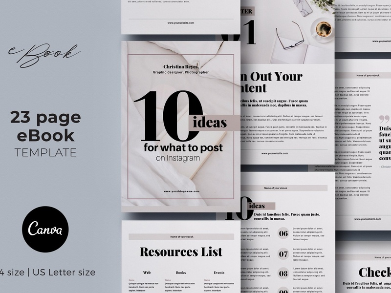 Canva eBook Template 23 pages by Brochure Design on Dribbble