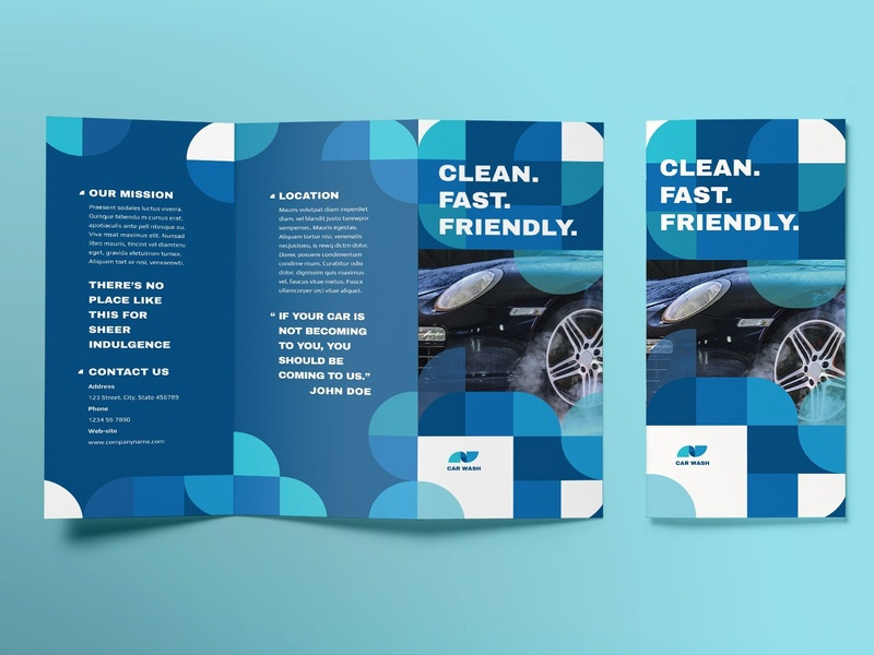 Car Wash Brochure Trifold studio proposal design lookbook editorial indesign clean catalogue elegant business modern portfolio magazine branding brochure template trifold wash car car wash brochure trifold