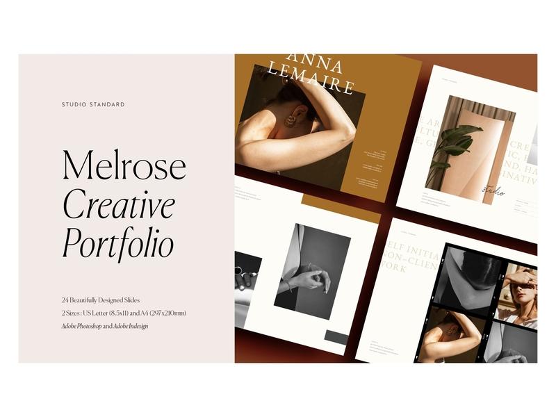 Melrose – Creative Portfolio by Brochure Design on Dribbble