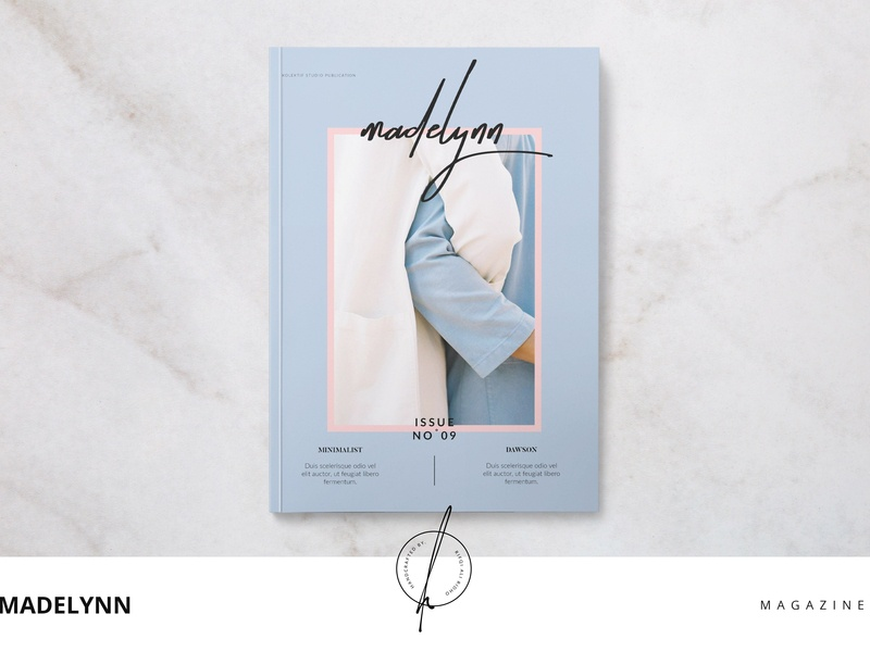 Madelynn Magazine feminine catalog fashion studio proposal design lookbook editorial indesign clean catalogue elegant business modern portfolio branding brochure template magazine madelynn