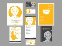 fashion templates for card, leaflet