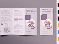 Massage brochure trifold 0 creativemarket