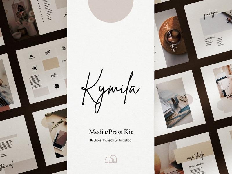 . Kymila   Media Kit by Brochure Design on Dribbble
