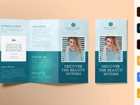 Beauty market brochure trifold 0 creativemarket