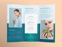 Beauty market brochure trifold 2 creativemarket