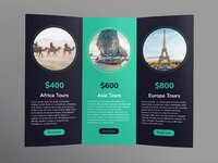 Tours and travels brochure trifold 2 creativemarket