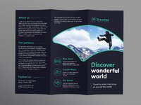 Tours and travels brochure trifold 1 creativemarket