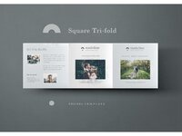 Square photography brochure