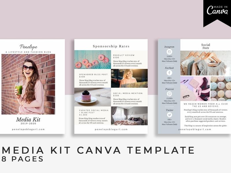 . Media Kit Canva Template  Penelope  by Brochure Design on Dribbble