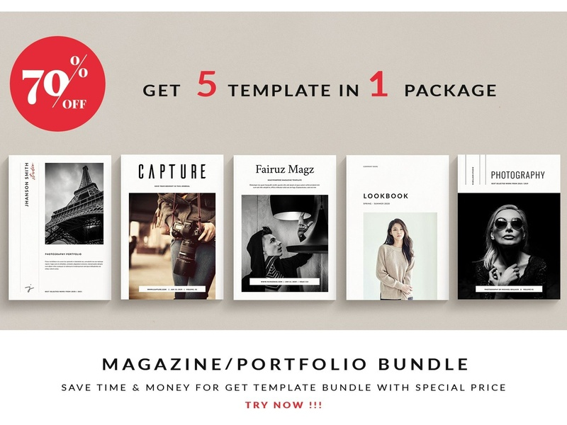 Magazine / Portfolio Bundle by Brochure Design on Dribbble
