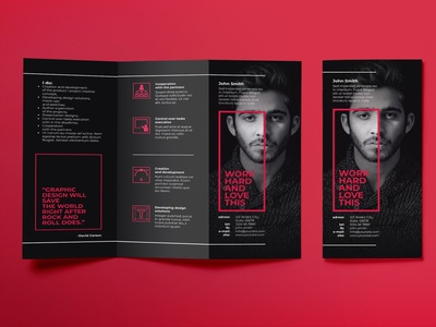 Art Director Brochure Trifold