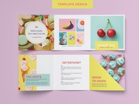 5x5 Trifold Template for InDesign