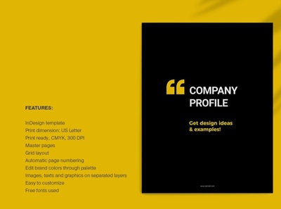 Black and Yellow Brochure