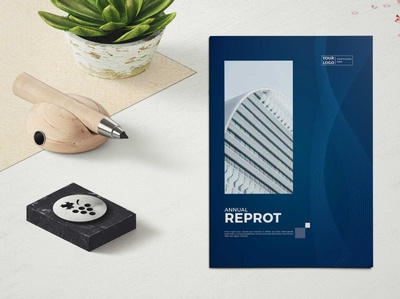 Abstract Annual Report Brochure