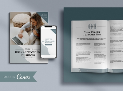 Canva eBook Template & Promo Graphic