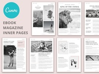 Canva - Magazine Ebook Templates