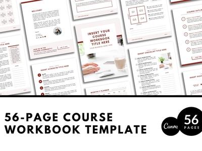 Canva Workbook Template Courses