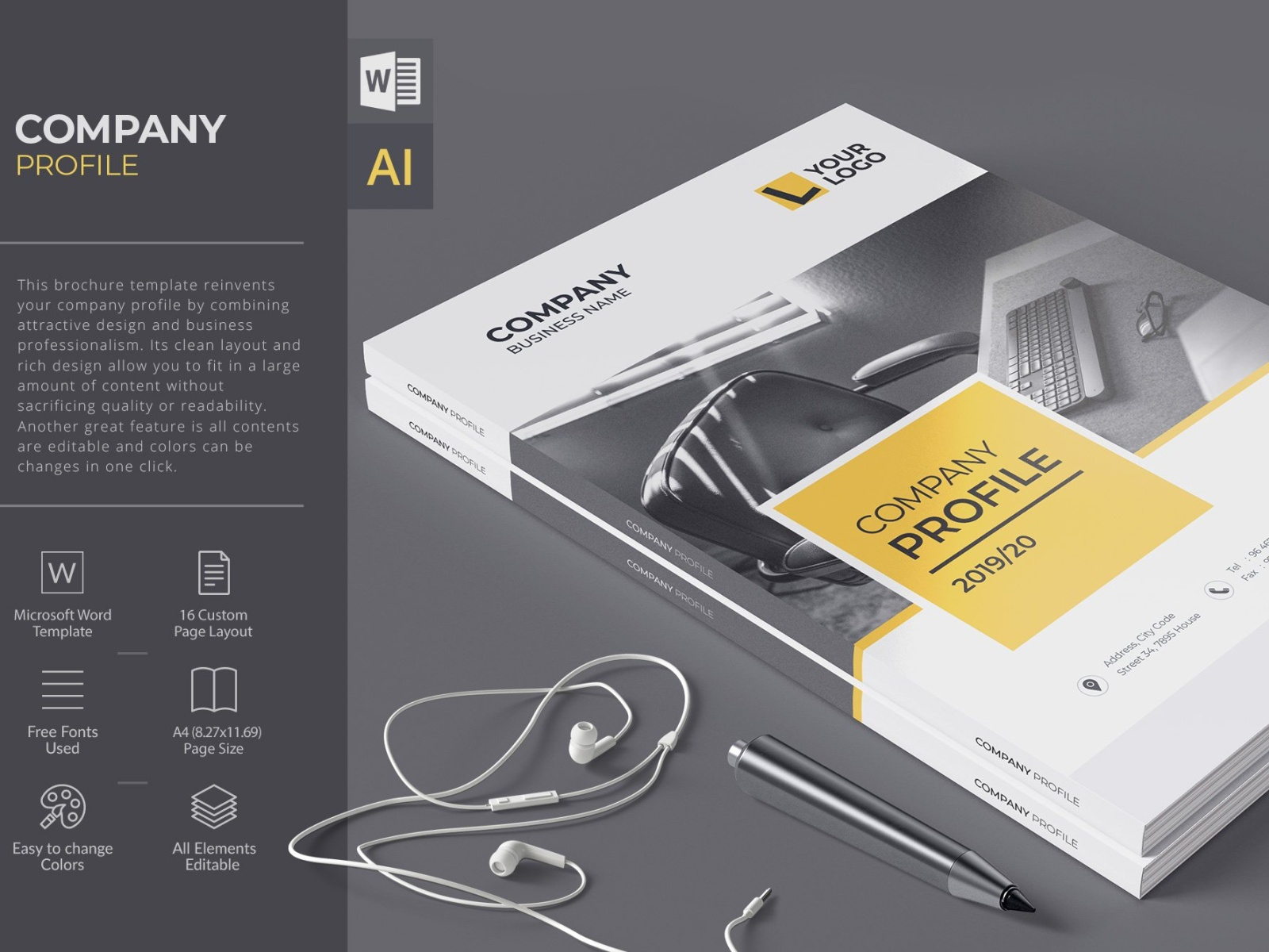 Company Profile Word Template By Brochure Design On Dribbble,How Much Does It Cost To Design A Website