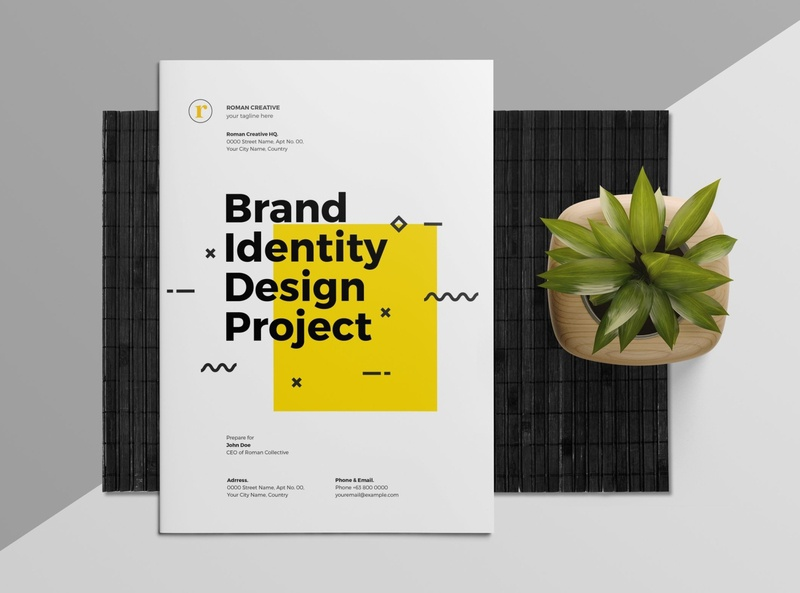 Brand Identity Proposal download mockup free download indesign catalogue clean business elegant portfolio modern magazine branding brochure template