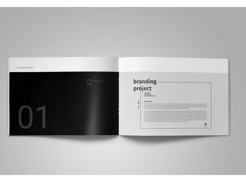 graphic design portfolio template by brochure design on