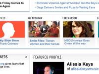 media site redesign