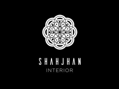 Shahjhan Interiors branding minimal logo flat design