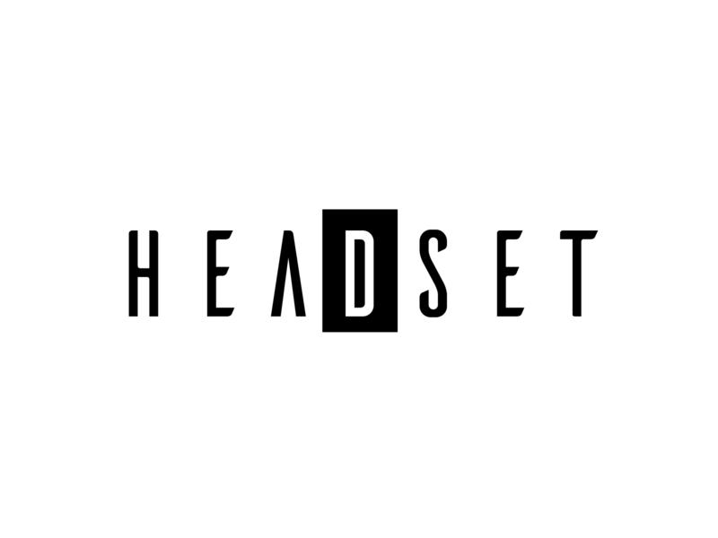 Headset Logo Design minimal logo design flat