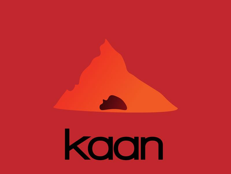 Kaan flat icon vector illustration design logo