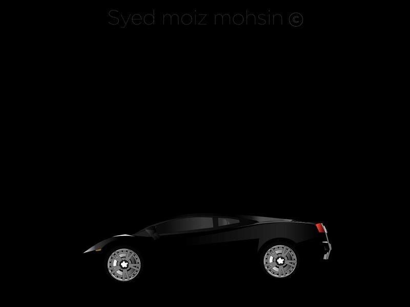 Lamborghini vector flat design illustration