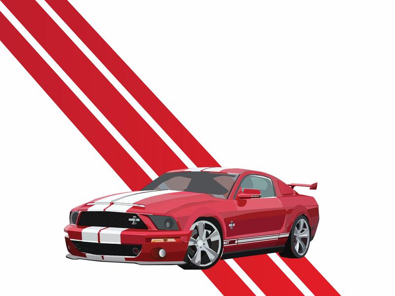 Shelby vector design flat illustration
