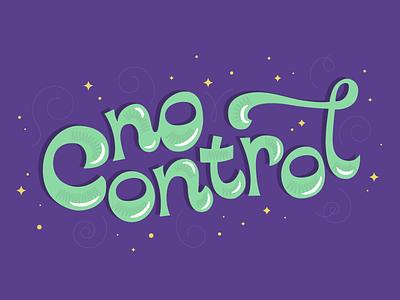 No Control funky psychadelic 70s retro type retrowave lettering