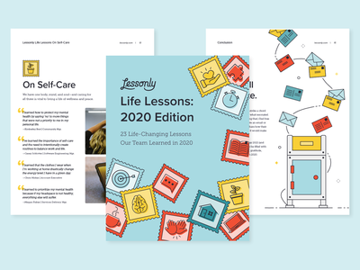Lessonly Life Lessons 2020 Edition ebook illustration branding design lessonly