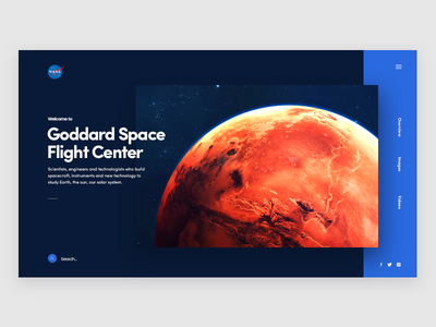 Nasa - Landing Page interaction website font ui design