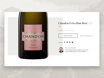 Moet - Product Page product page ux typography website design ui ecommerce