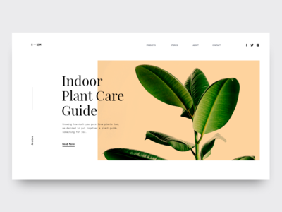 HNDM Plant Store homepage design website typography minimal web colors ux ui design