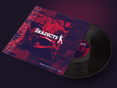 The Skadicts music album music art music colors color vinyl record vinyl cover branding gradient experimental typography design