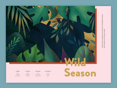 Wild Season brochure brochure design illustration color typography design