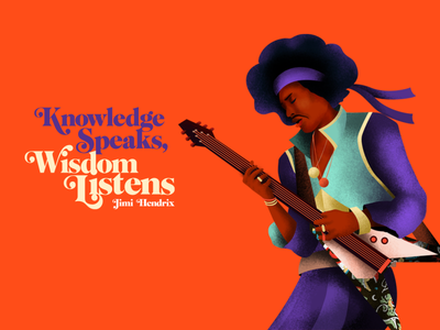 Jimi Hendrix texture pattern gradient guitar jimi hendrix illustration poster colors typography design