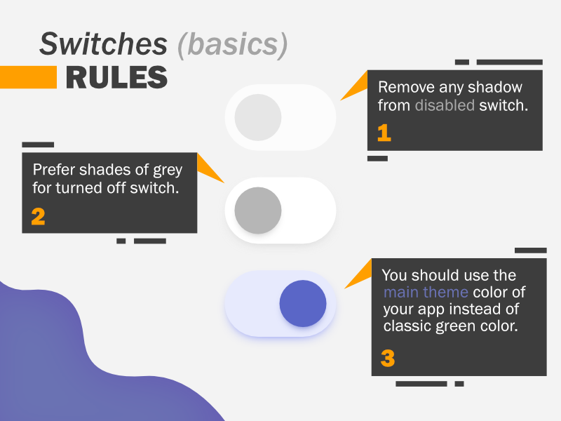 Switches basic rules ! by Isak Brandt on Dribbble