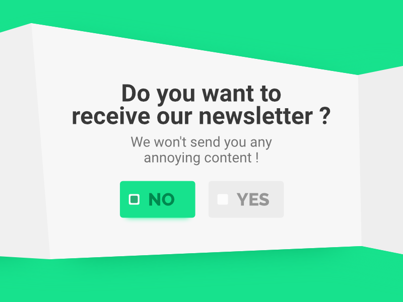 Dribbble newsletter
