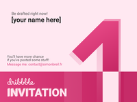 1x Dribbble Invitation - Get Drafted!