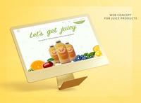 Juice shop web concept