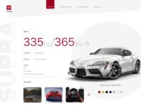 Toyota Supra web page