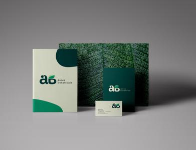 áurea botanicals typography vector branding logo design
