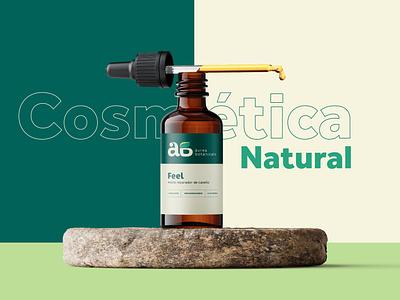 Áurea Botanicals ui design cosmetic branding logo graphic design