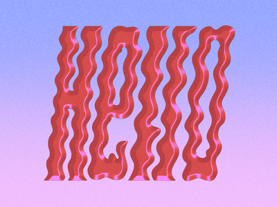 Helloooooo wavy letter retro lettering typography illustration design