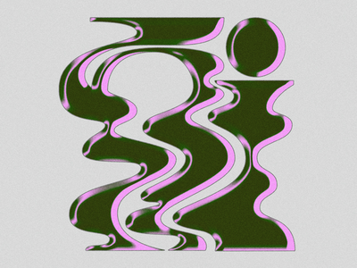 Letter Game wavy letter logo typography retro lettering illustration design