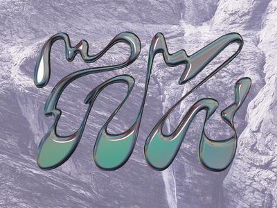 Lettering game metal books wavy letter typography lettering retro illustration design